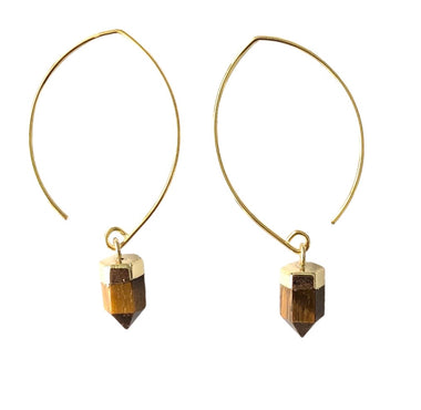 TIGERS EYE SEMI-HOOPS