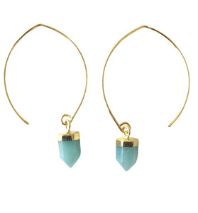 AMAZONITE SEMI-HOOPS