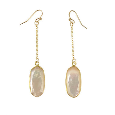 Mother of Pearl Chain Earrings