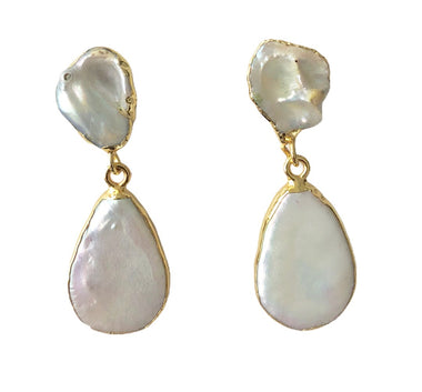 Freshwater Pearl Teardrop Earrings