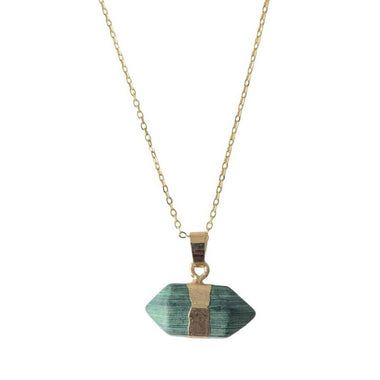 Malachite Hexagonal Necklace