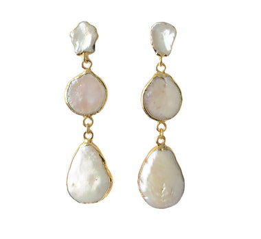 Freshwater Pearl Layered Earrings