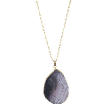 Natural Purple Agate Pendant