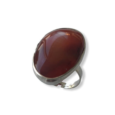 Burnt Red Agate Ring