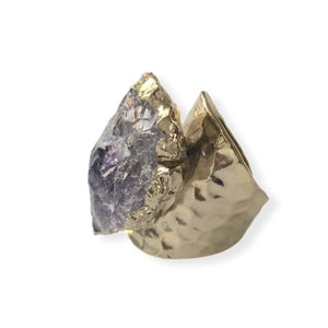 Amethyst Spearhead Ring