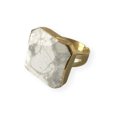 Howlite Statement Ring