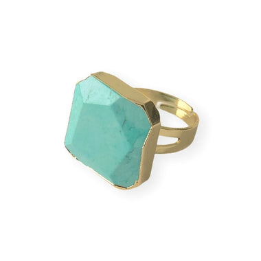 Amazonite Statement Ring
