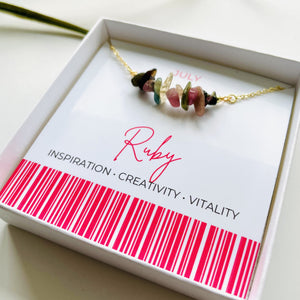 Ruby - July Birthstone Necklace