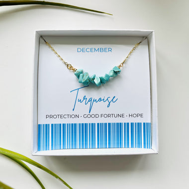 Turquoise - December Birthstone Necklace