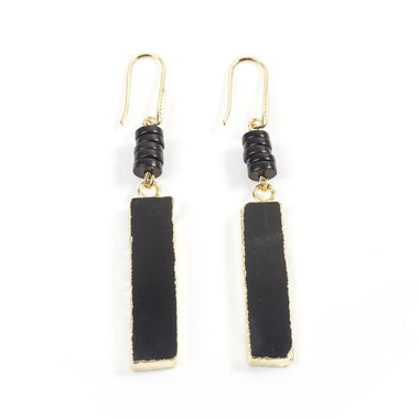 Tourmaline Bar Earrings