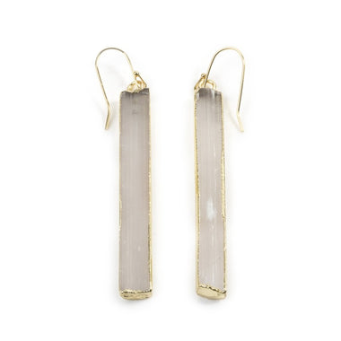 Selenite Bar Earrings