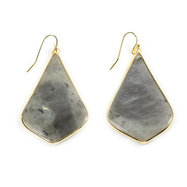 Labradorite Bell Shaped Earrings