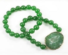 Load image into Gallery viewer, Green Onyx Bracelet Set