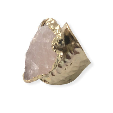 Rose Quartz Spearhead Ring