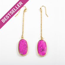 Load image into Gallery viewer, Pink Howlite Chain Earrings