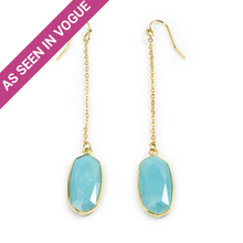 Load image into Gallery viewer, Turquoise Chain Earrings
