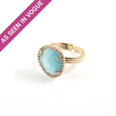 Blue Catseye Ring