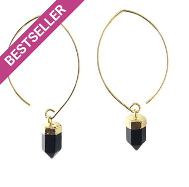 Black Onyx Semi Hoops