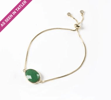 Load image into Gallery viewer, Green Onyx Gemstone Slide Bracelet