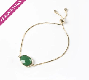 Green Onyx Gemstone Slide Bracelet