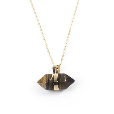 Tigers Eye Hexagonal Necklace