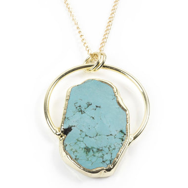 HALF CIRCLE TURQUOISE NECKLACE