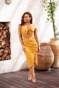 AMALFI GIALLO DRESS