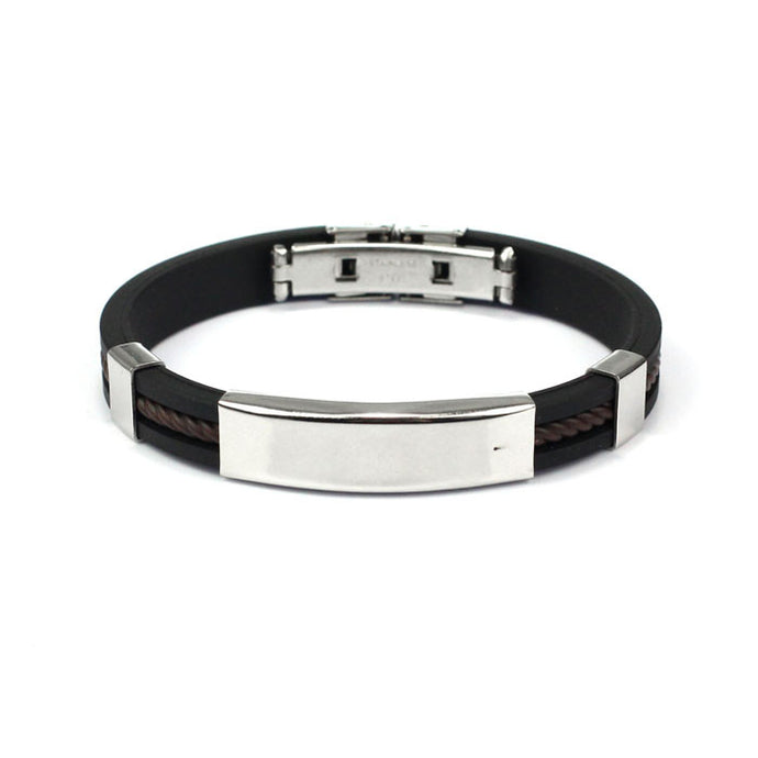 Mens Stainless Steel Cuff Bangle