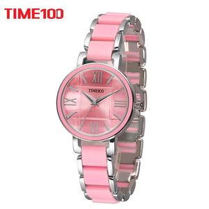 TIME100 Women's Quartz Pink Watch
