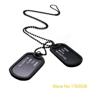 Military Black Dog Tags