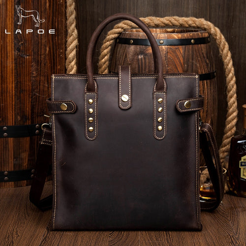 LAPOE Genuine Leather Briefcases