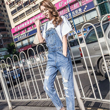 Load image into Gallery viewer, Jumpsuits for women 2018 denim overalls women female winter jumpsuit woman dungarees jump suit rompers womens jumpsuit KK1416