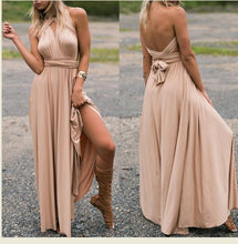 Load image into Gallery viewer, RAISEVERN Bandage Sexy Jumpsuit Boho Rompers Women Jumpsuit 2019 Elegant Summer Jumpsuit Multi Way Wear Wrap Wedding Party