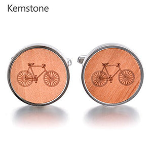 Kemstone Rosewood Bicycle Cufflinks