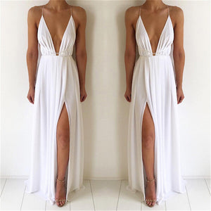 Bigsweety Sexy Maxi Dress Women Sleeveless Backless Boho Long Dress Bridesmaid Formal Summer Party Bandage Slit Dress Vestidos