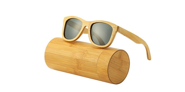 AN SWALLOW Polarized Wood Sunglasses