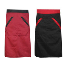 Load image into Gallery viewer, Kitchen Cooking Aprons Solid Pattern Waist Two Pocket Aprons Waterproof Restaurant Kitchen Bust Sleeveless Aprons