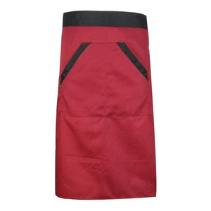 Kitchen Cooking Aprons Solid Pattern Waist Two Pocket Aprons Waterproof Restaurant Kitchen Bust Sleeveless Aprons