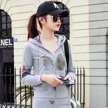 Load image into Gallery viewer, 2019 Spring And Autumn Women Hooded Casual Sexy Tracksuits Women 2PCS Suit Printing Hoodies Long sleeve Sweatshirt + Long Skirts