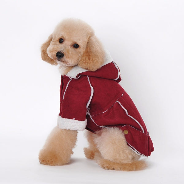 Dog winter coat (Suede & Fleece)