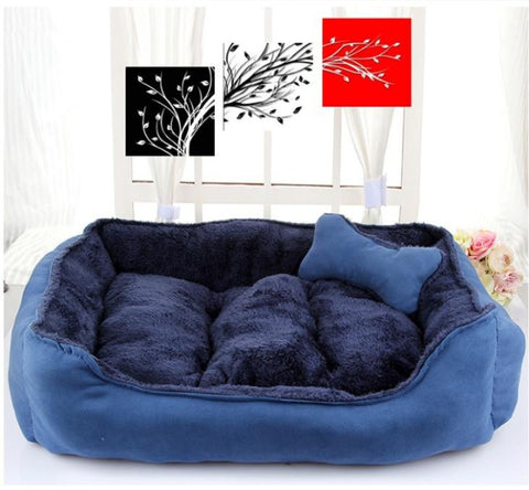 Beautiful Dog Bed Plush Cotton Fabric