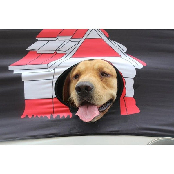 """Super Special Deal"" Foldable window Cover Window Sun Shade ""Pet Dog Hang Out"""