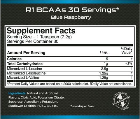 R1 BCAA 30 Servings