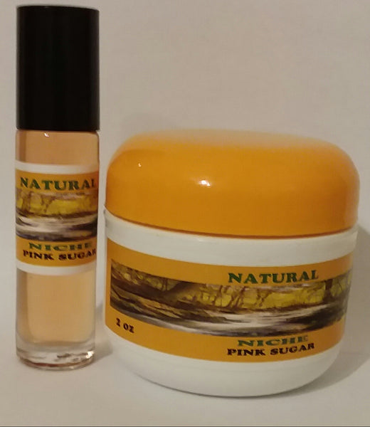 Pink Sugar Body Butter & Body oil set for Women