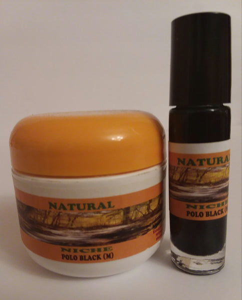 POLO BLACK BODY BUTTER & BODY OIL SET FOR MEN