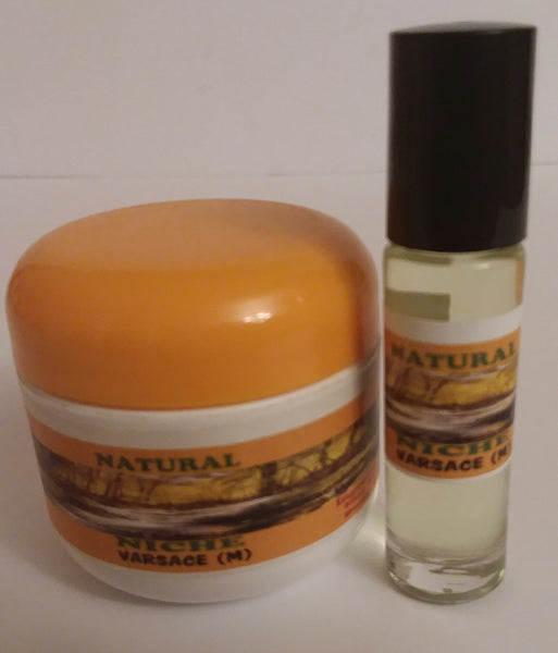 BODY BUTTER & BODY OIL SET( VARSACE ) MEN 2 OZ