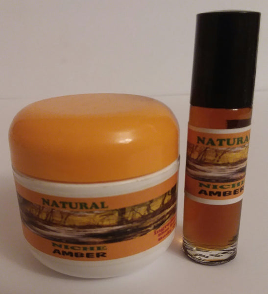 AMBER BODY BUTTER -BODY OIL SET