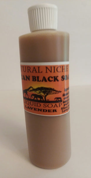 LIQUID BLACK SOAP -LAVENDER