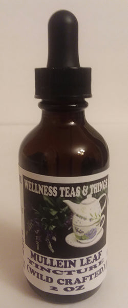 WELLNESS TEAS &THINGS - MULLEIN LEAF TINCTURE  (WILD CRAFTED) 2 OZ THE LUNG HERB AND MORE