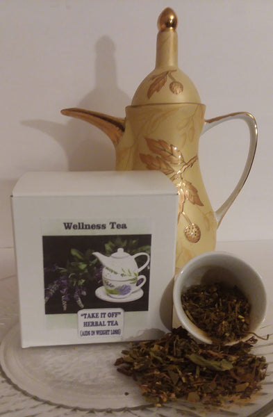 "WELLNESS TEAS - ""TAKE IT OFF"" HERBAL TEA (AIDS IN WEIGHT LOSS)"